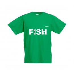Тениска FISH Детска  - Зелена