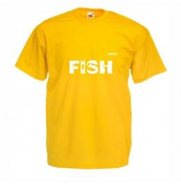 Тениска FISH Мъжка - Жълта