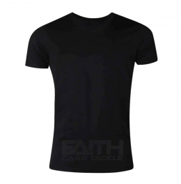 Тениска Faith T-Shirt black, риболов, риболовно облекло