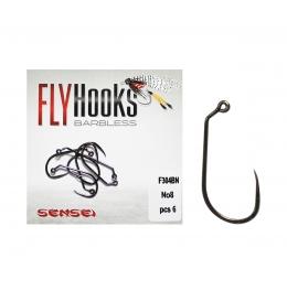 barbless куки за мухарски риболов, риболов на муха, куки за нимфи мухи